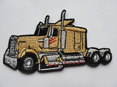 Big Yellow Rig Truck Embroidered Iron On Patch