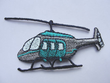 Helicopter Chopper Iron On Applique Patch 2.5 Inch