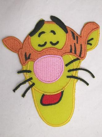Tiger Face Embroidered Iron On Patch 4 In