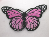 Pink Shades Natural Butterfly Iron On Patch 3 In