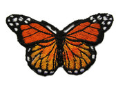 Orange Shades Natural Butterfly Iron On Patch 3 In
