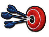 Darts Target Bullseye Iron On Patch Applique 2.68 Inches