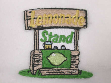 Lemonade Stand Iron On Applique Patch
