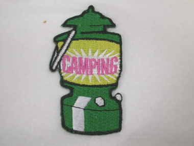 Camping Green Lantern Iron On Patch Applique