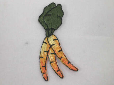Carrot Bunch Vegetable Embroidered Iron On Applique Patch B