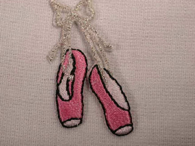 Ballet Ballerina Slippers Iron On Patch 1.75 Inch