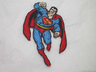 Superman Embroidered Iron On Applique Patch