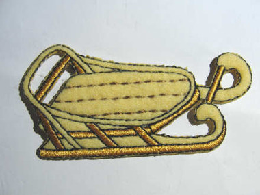 Sled Winter Fleece Embroidered Iron On Patch Applique