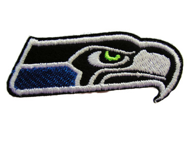 Hawk Head Stylized Logo Emblem Embroidered Iron On Patch Applique