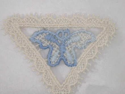Pcs off white sequin lace appliques bridal lace applique
