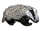 Badger Gray White Iron On Patch 2.5 Inches