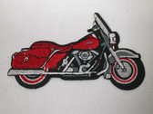 Motorcycle Embroidered Iron On Patch 4.25 In Right