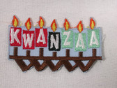 Kwanzaa 7 Candles Holiday Embroidered Iron On Patch
