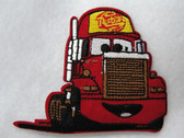 Red Cartoon Big Rig Truck Embroidered Iron On Patch