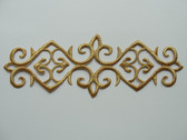 Gold Metallic Scroll Rectangle Costume Iron On Embroidered Patch 7.25 Type A