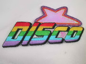 "4"" DISCO Star Colorful Embroidered Iron On Patch"