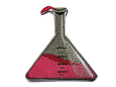 Science Chemical Chemistry Beaker Embroidered Iron On Patch Applique 2.25 Inches