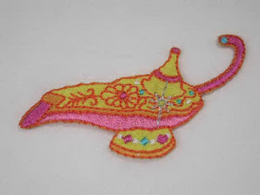 Aladdins Genie Lamp Iron On Applique Patch