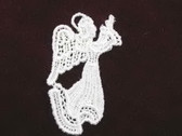 Ivory Angel Venise Lace Sew On Applique Faces Right 2.75 Inch