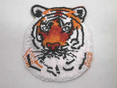 Tiger Head Embroidered Iron On Applique Patch