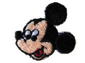 Mickey Mouse Head Embroidered Iron On Applique Patch