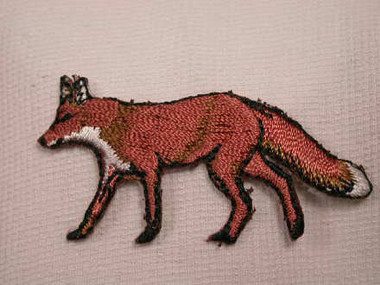 Walking Natural Fox Embroidered Iron On Patch Applique