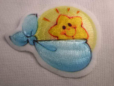 Baby Infant Sun Embroidered Iron On Applique Patch