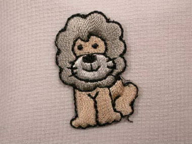 Adorable Infant Lion Embroidered Iron On Patch Applique