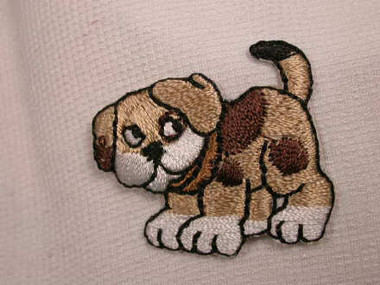 Beagle Puppy Dog Embroidered Iron On Patch Applique
