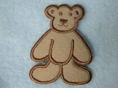 Baby Brown Bear Iron On Applique Patch 2.25 Inch
