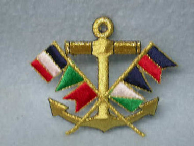 Nautical Anchor Flag Embroidered Iron On Applique Patch
