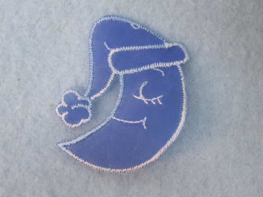 Blue Moon Infant Embroidered Iron On Organza Patch