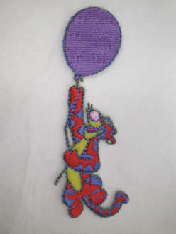 Disney Pooh Tigger Balloon Embroidered Iron On Applique Patch