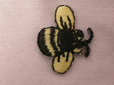 Bumble Bee Iron On Patch Applique .88 In