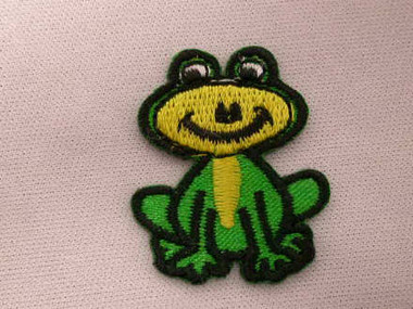 Fun Small Frog Froggy Embroidered Iron On Patch