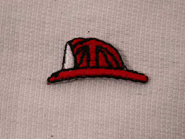 Fireman Hat Infant Iron On Applique Patch 1 In