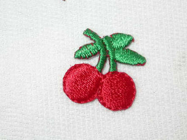 Mini Cherry Pair Embroidered Iron On Patch