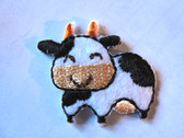 Cute Mini 1 Inch Cow Embroidered Iron On Patch Applique