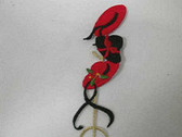 Red Hat Ladies Hat Stand Embroidered Iron On Patch