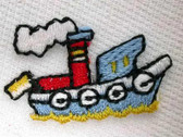 Infant Tug Boat Embroidered Iron On Patch 1 In Blue
