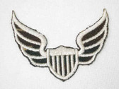 Military Winged Shield Embroidered Iron On Patch