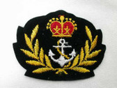 Naval Crown Wreath Crest Embroidered Iron On Emblem