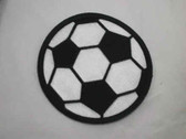 Large Soccer Ball Embroidered Iron On Patch 4 Inch