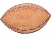 Football Embroidered Iron On Patch Applique Brown Stitching