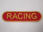 Racing Banner Iron On Applique Patch 2.75 Inch
