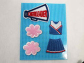 5 Pc Cheerleader Embroidered Iron On Applique Patch Set