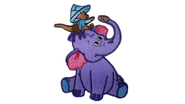 Pooh Heffalump Elephant with Roo Iron On Applique Patch