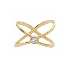 Crystal Crossing Ring