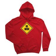 Be Wide Mens Red Hoodie