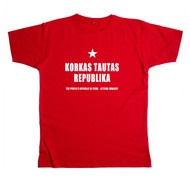 Latvian T-shirt Red